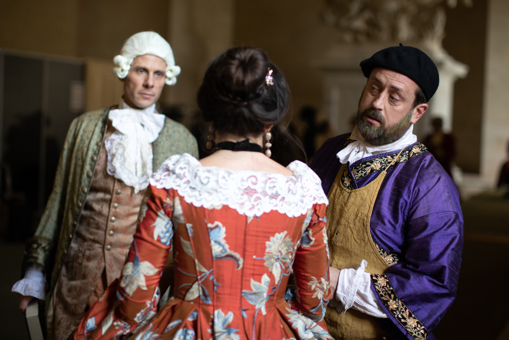 The courtiers and the Art Master: amongst the characters drawn from Versailles history