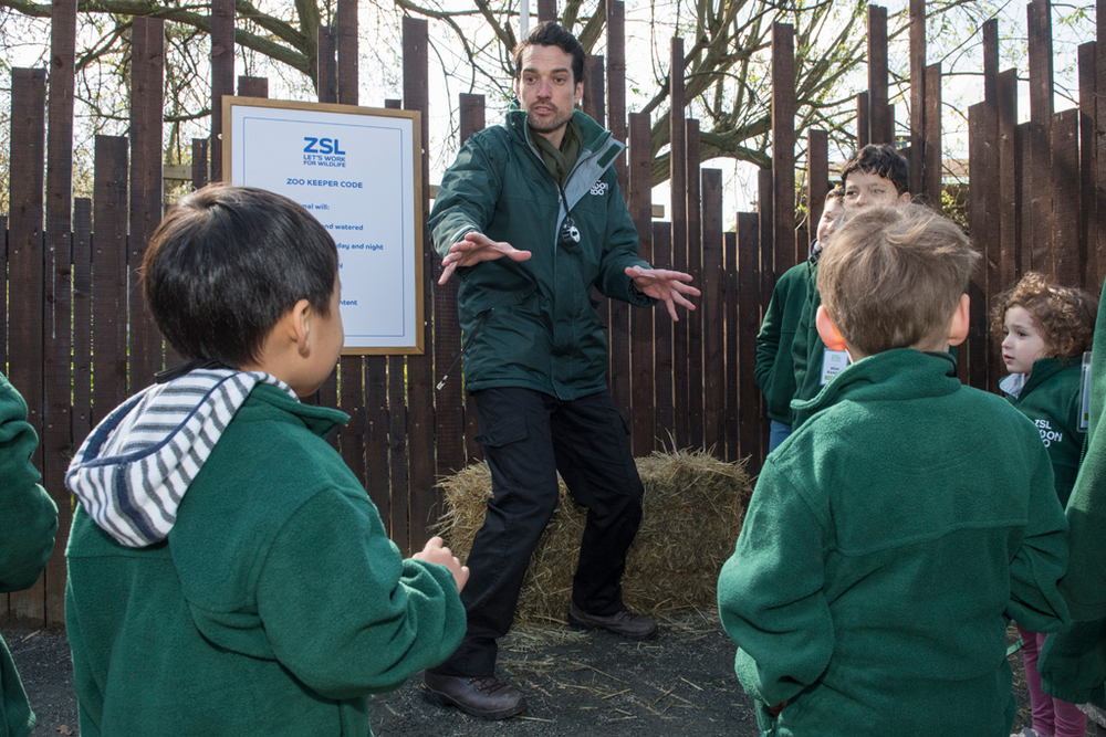 Children become Zoo Keepers for a day