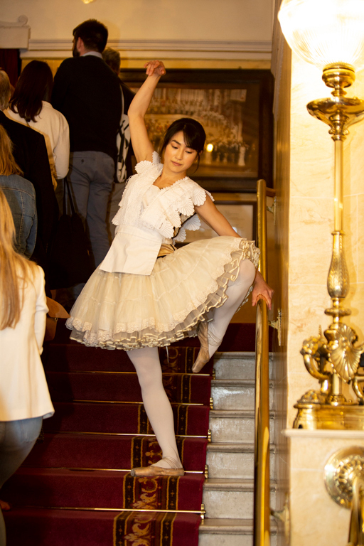 Answers were illustrated in myriad ways- as with Aoi en pointe here.
