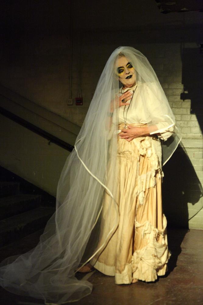 Miss Havershamish in Veuve Cliquot themed make up