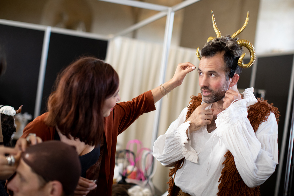 Paul Rogers lead Hair and Make Up Alice Lessing lead Costume