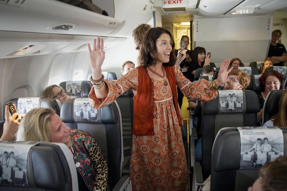 The first immersive show aboard a transatlantic flight