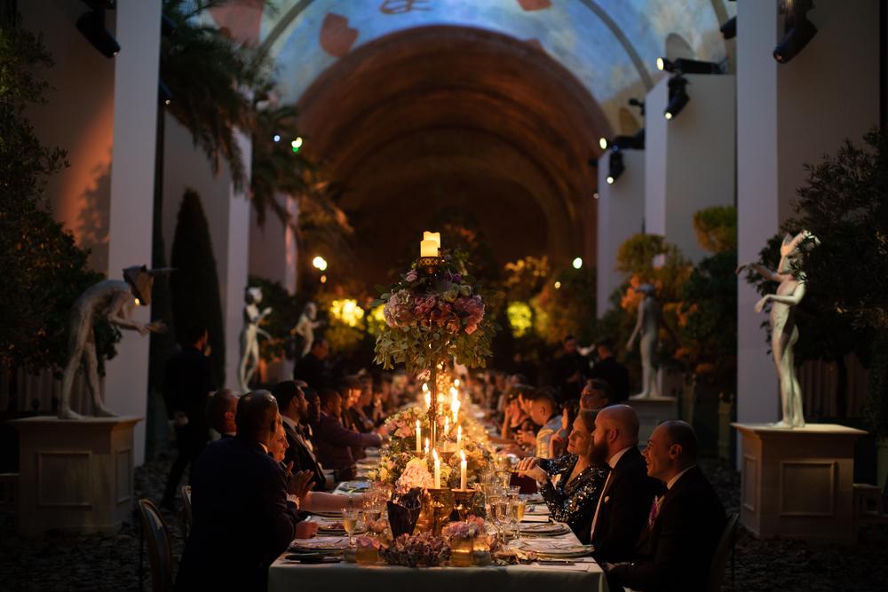 An opulent Dinner for 100 in the Orangery