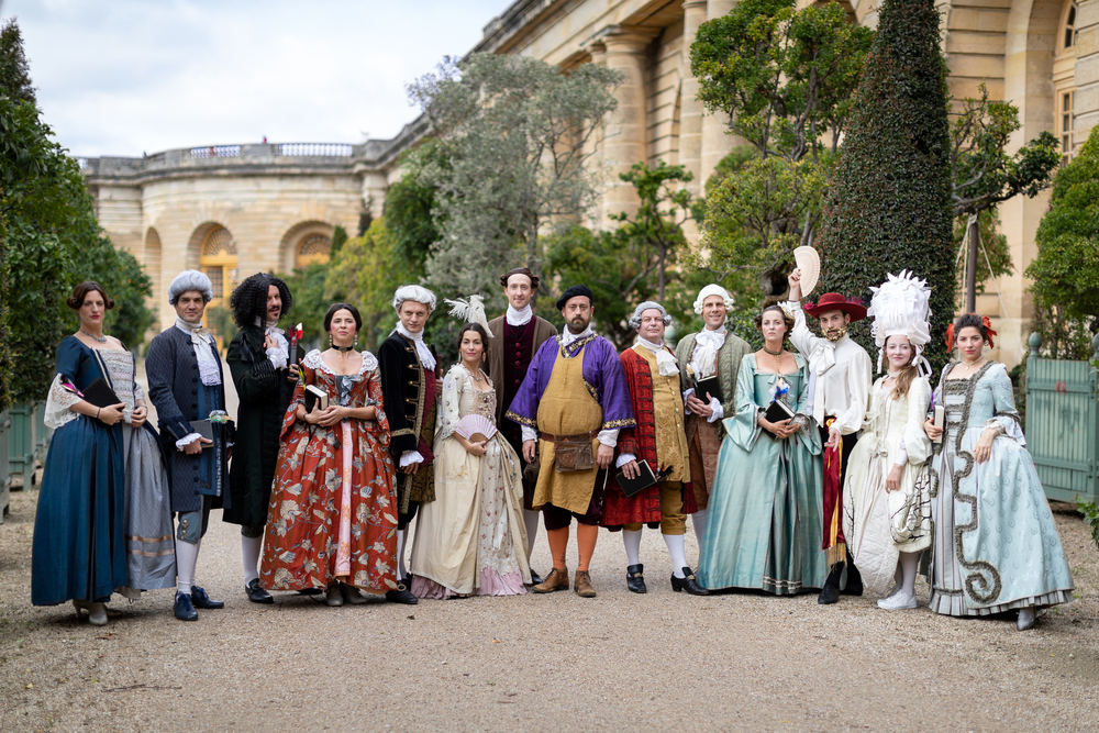 Costumes atThe Place and Gardens of Versailles- The Year 1738