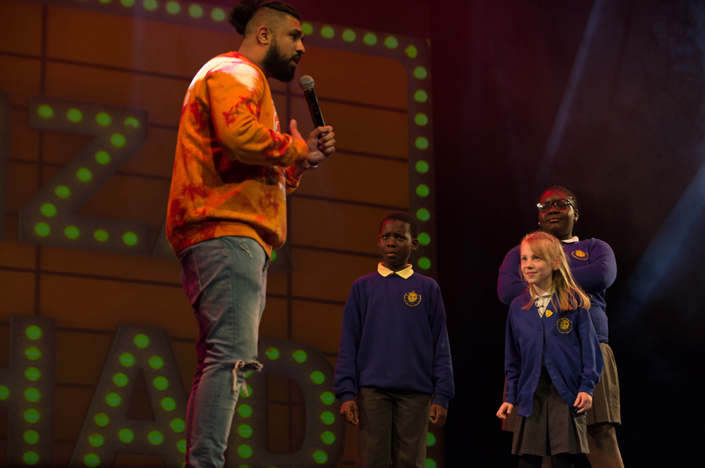 Humza tells the children about Little Badman