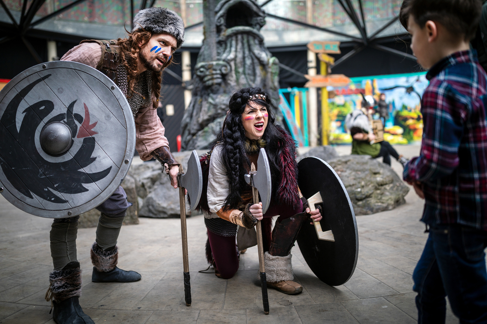 Our viking characters guided the young guests