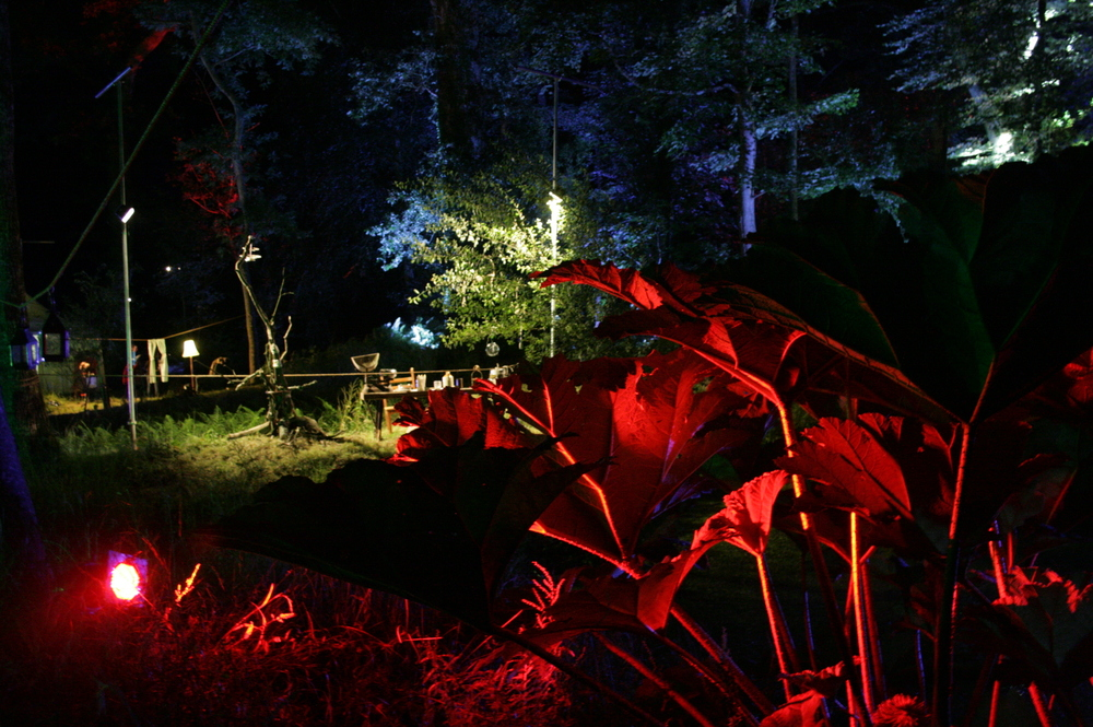 Camp Bestival Theatre in the woods