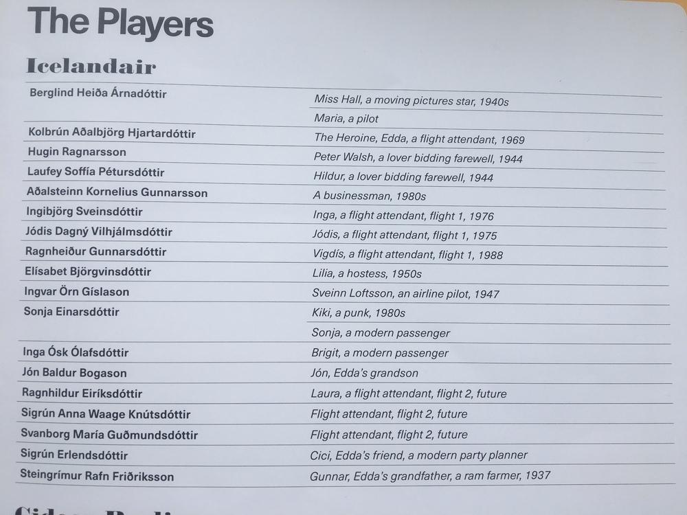 Cast List Icelandair Cast 2