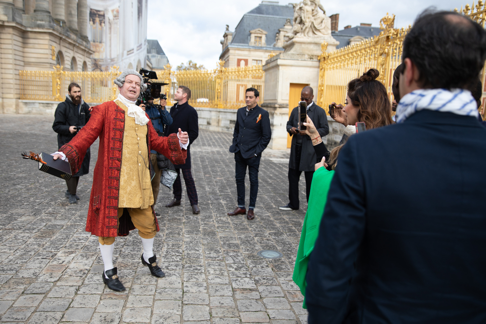 Invited guests had the Palace to themselves to witness the signing of a writ
