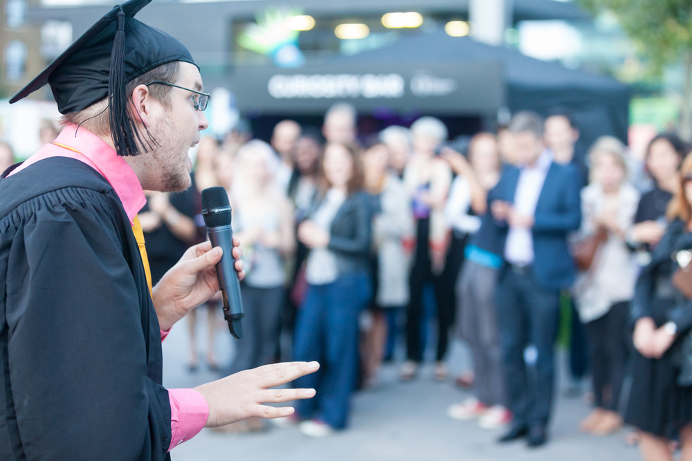 Master of Ceremonies at Curious? Festival