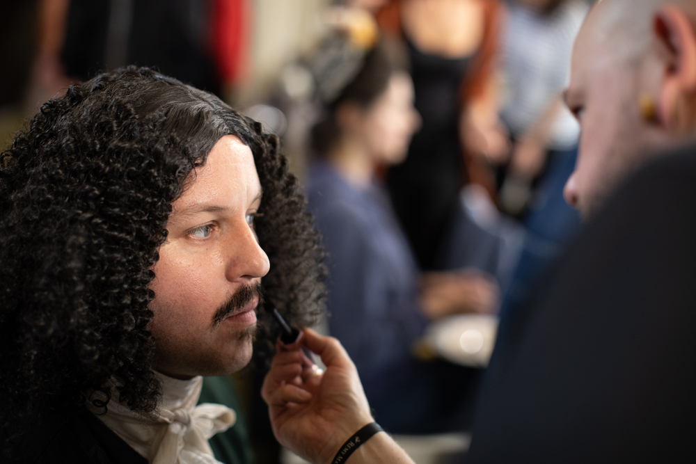 Paul Rogers lead Hair and Make Up with a team of French Artists
